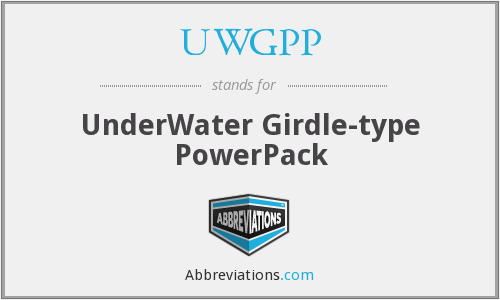 What does UWGPP stand for?