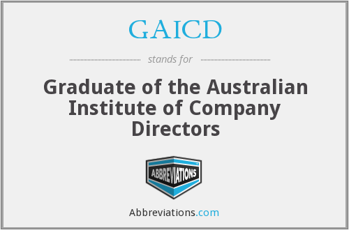 What does GAICD stand for?