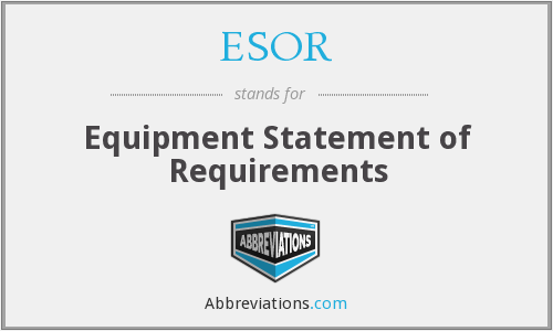 What does ESOR stand for?