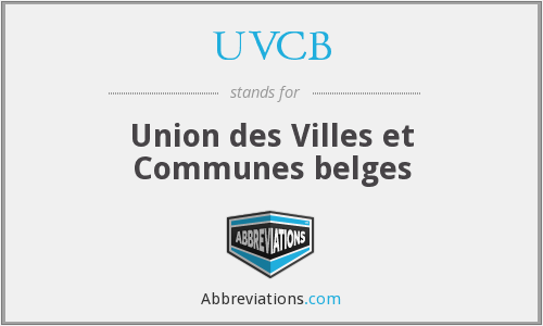 What does UVCB stand for?