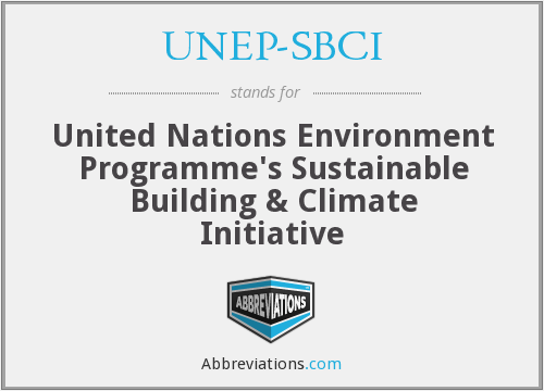 What does UNEP-SBCI stand for?