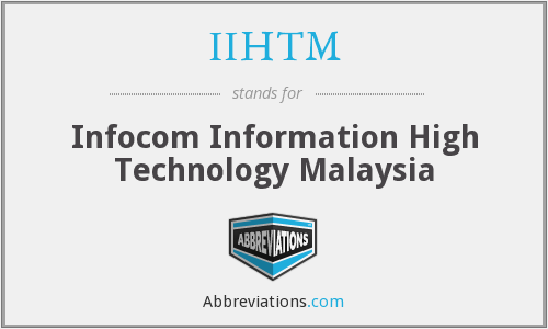 What does IIHTM stand for?