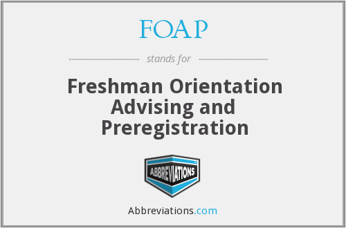 What does FOAP stand for?