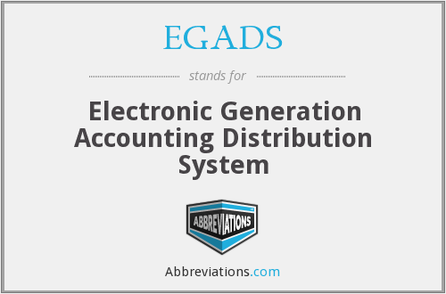 What does EGADS stand for?