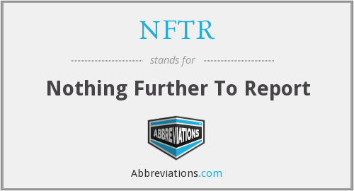 What does NFTR stand for?