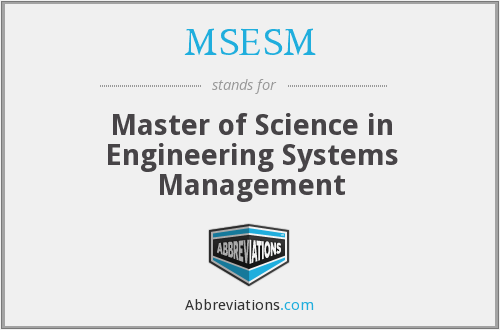 What does MSESM stand for?