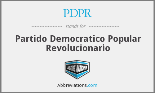 What does PDPR stand for?