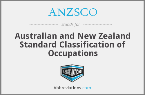 What does ANZSCO stand for?