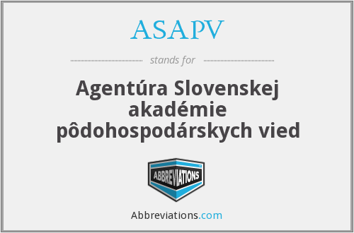 What does ASAPV stand for?