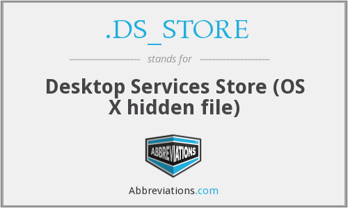 What does .DS_STORE stand for?