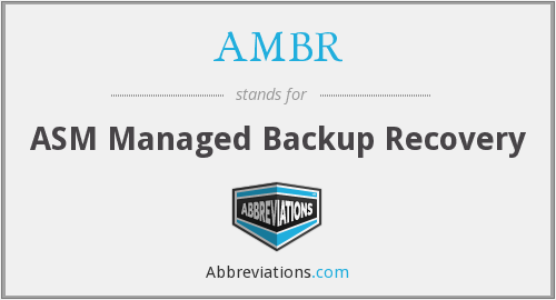 What does AMBR stand for?
