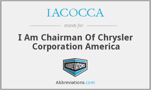 What does IACOCCA stand for?
