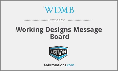 What does WDMB stand for?