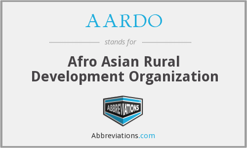 What does AARDO stand for?