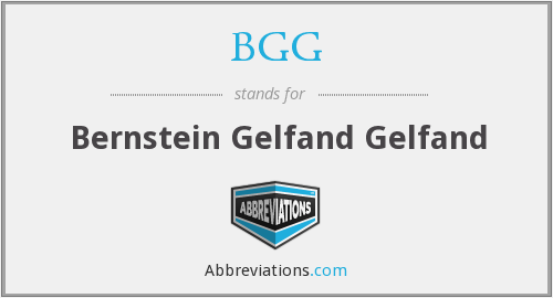 What does BGG stand for?