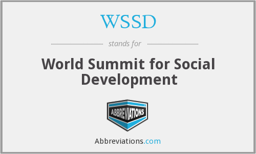 What does WSSD stand for?