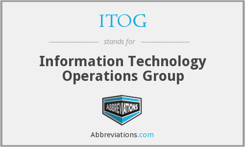 What does ITOG stand for?