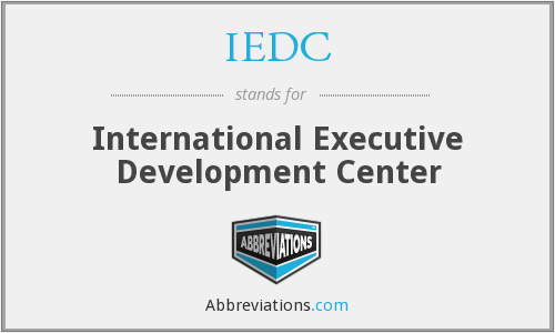 What does IEDC stand for?