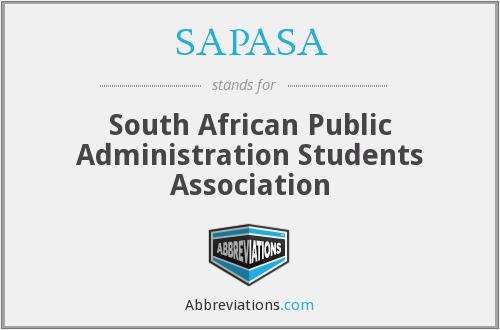 What does SAPASA stand for?