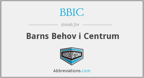 What does BBIC stand for?