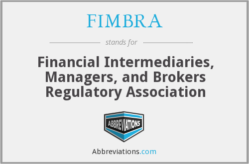 What does FIMBRA stand for?