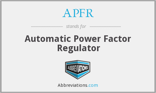 What does APFR stand for?