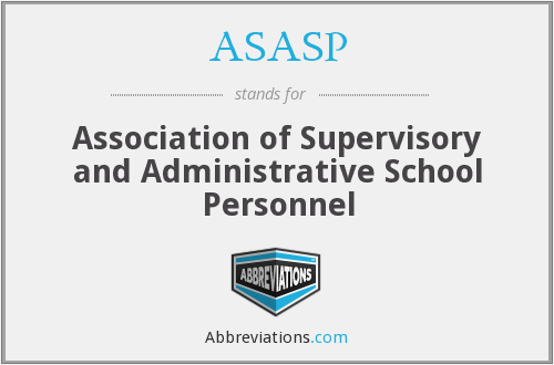 What does ASASP stand for?
