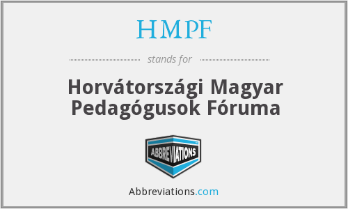 What does HMPF stand for?