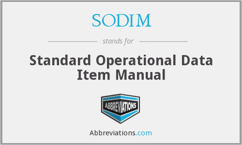 What does SODIM stand for?