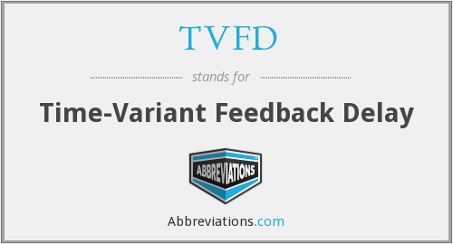 What does TVFD stand for?