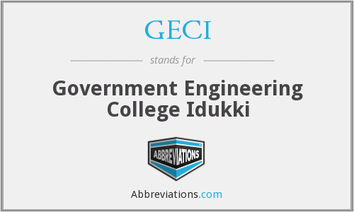 What does GECI stand for?