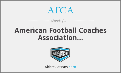 What does AFCA stand for?