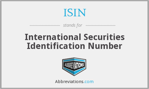 What does ISIN stand for?