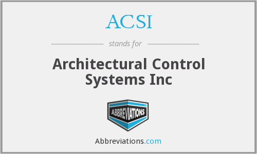 What does ACSI stand for?
