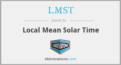 What does LMST stand for?