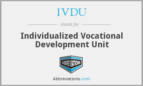 What does IVDU stand for?