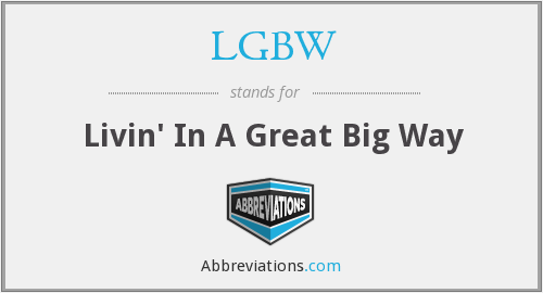 What does LGBW stand for?