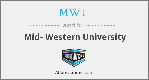 What does MWU stand for?