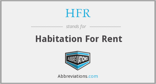 What does HFR stand for?