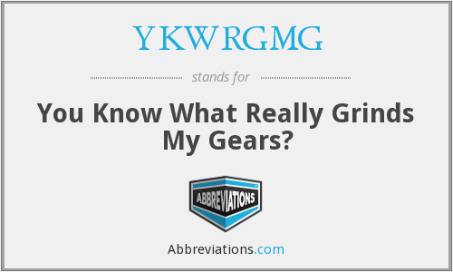 What does YKWRGMG stand for?