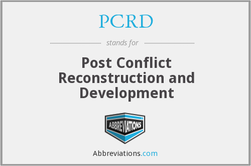 What does PCRD stand for?