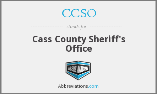 What does CCSO stand for?