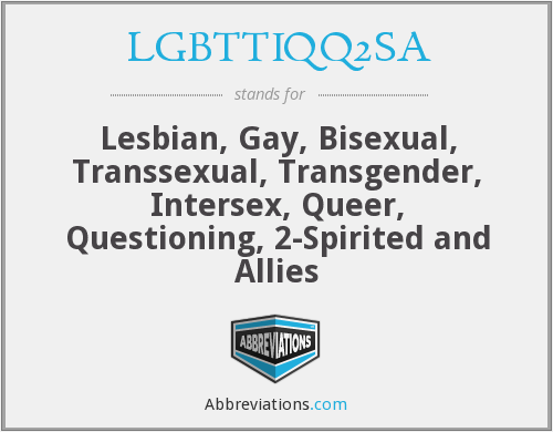 What does LGBTTIQQ2SA stand for?