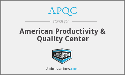 What does APQC stand for?