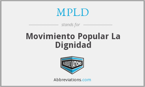 What does MPLD stand for?