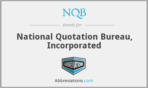 What does NQB stand for?