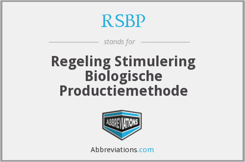 What does RSBP stand for?