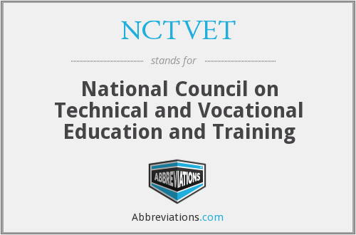 What does NCTVET stand for?