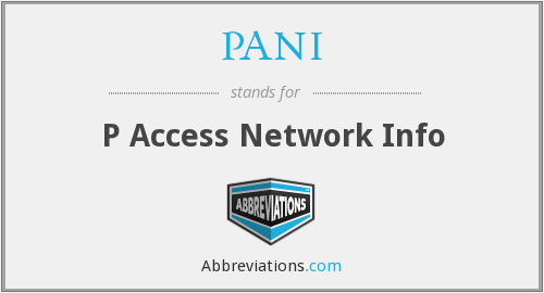 What does PANI stand for?