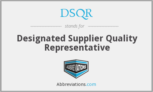 What does DSQR stand for?